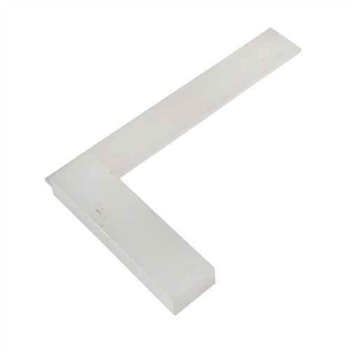 "4"" (100mm) Engineers Tri Square Set Square Right Angle Straight Edge Steel SIL116"