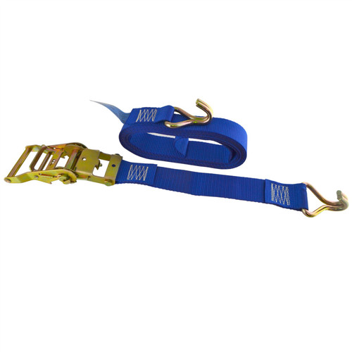 Blue Ratchet Strap Tie Down Trailer 5m Hook Cargo Strap 750kg Lashing SM012