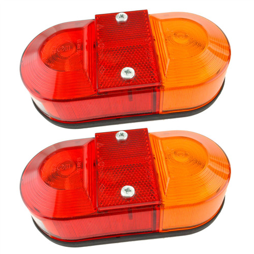2 x Horse Box Light Trailer Combination Lamp Reflector Number Plate Rear (Pair)