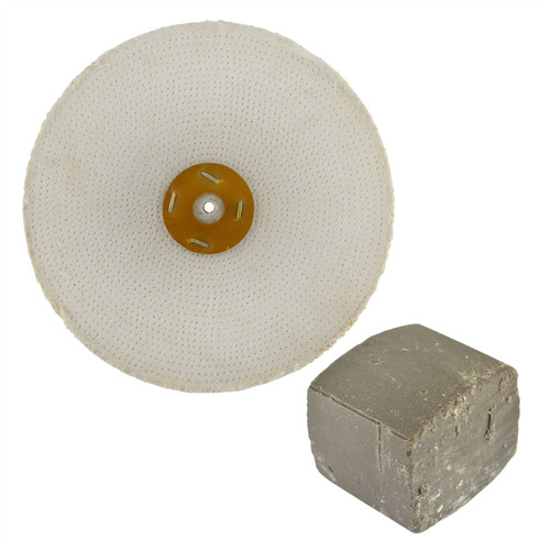 """Coarse Sisal Fast Cut Buffing Polishing Mop 12"""" x 1.5"""" 3 Row With Compound 250g"""