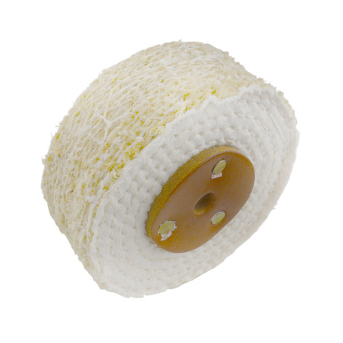 """Coarse Sisal Fast Cut Buffing Polishing Mop 4"""" x 1.5"""" 3 Section 1st Stage Metal"""