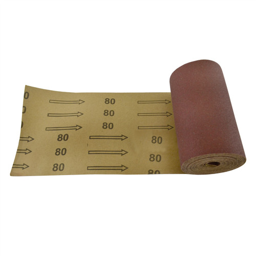 Sand Paper Roll 80 Grit Abrasive 5m Long 115mm Wide Aluminium Oxide SIL155