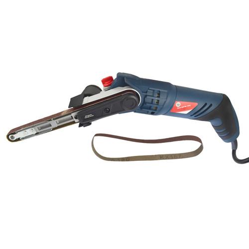 Power File Belt Sander / Finger Electric Sanding Tool With 2 Sanding Belts 13mm x 457mm