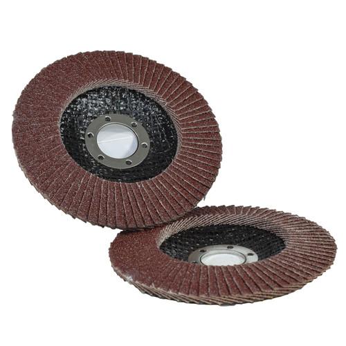 "2 x 60 Grit Flap Discs Sanding Grinding Rust Removing For 4-1/2"" (115mm) Grinder"