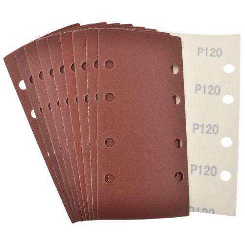 Hook/Loop 1/3 Sheet Sanding Sander Sandpaper Pads 10 Pack 120 Grit