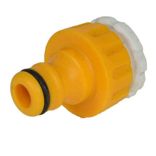 "3/4"" BSP Tap Adaptor With White Insert Adaptor 1/2"" BSP Pipes Garden Water"