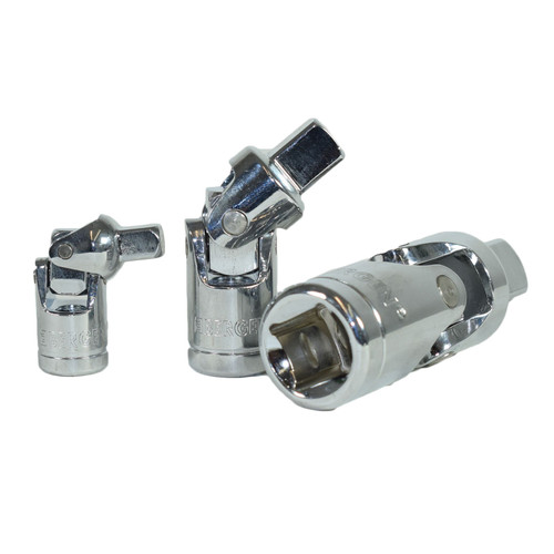 "1/4"" 3/8"" And 1/2"" Drive Universal Joint UJ Wobble Angle Extension Bergen"