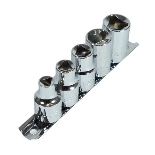"1/2"" Drive Triangular Profile Sockets For VAG TDI Engines Bosch Injectors 5pc"
