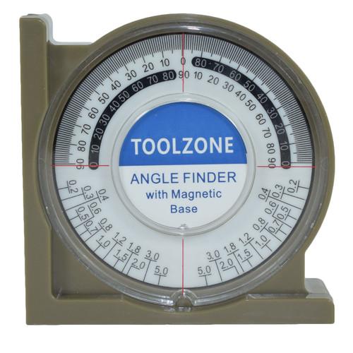 Magnetic Base Angle Finder Measure Spirit Level Gauge Roofer Builders Plumbers