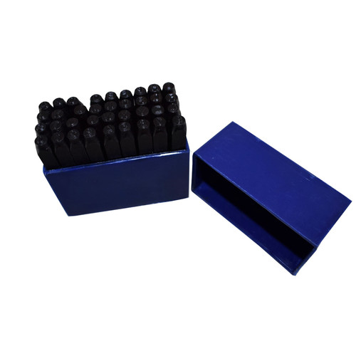 4mm 36pc Number And Letter Stamp Set Metal Steel Marking Punch Stamps