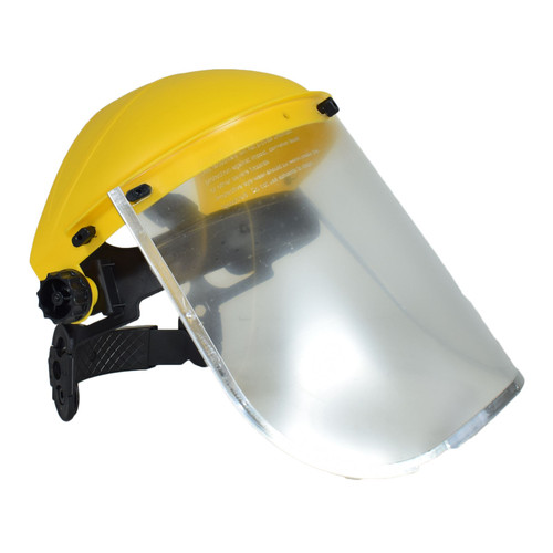 Safety Helmet Hat Forestry Gardening Chainsaw Protection Mesh & Clear Visor