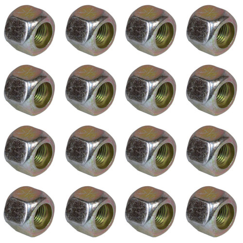 "Pack of 16 3/8"" UNF Wheel Nuts Nut For Trailer Suspension Hubs"