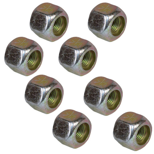 "Pack of 8 3/8"" UNF Wheel Nuts Nut For Trailer Suspension Hubs"