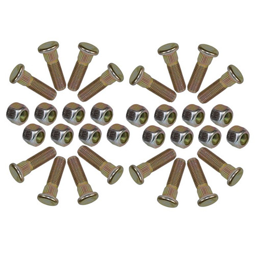 "Pack of 16 3/8"" UNF Wheel Studs And Nuts For 4"" PCD Trailer Suspension Hubs"