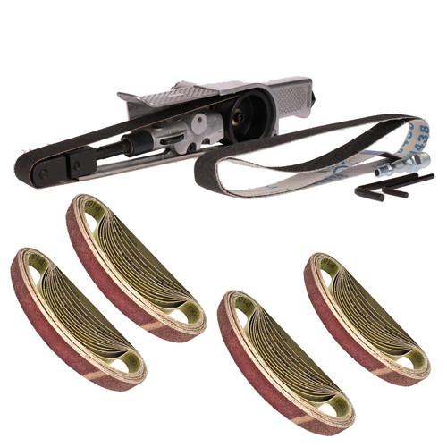 20mm Air Finger Belt Sander And 50 Belts Power File Detail Sander Bergen