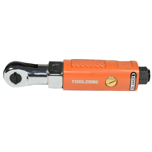 "1/4"" Drive Stubby Compact Air Ratchet Wrench Reversible Max Torque 25ft/lbs"