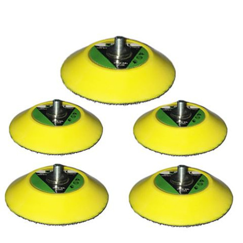 "5 x 3"" 75mm Hook Loop Sanding Polishing Backing Pad  M6 Thread for Air Sander"