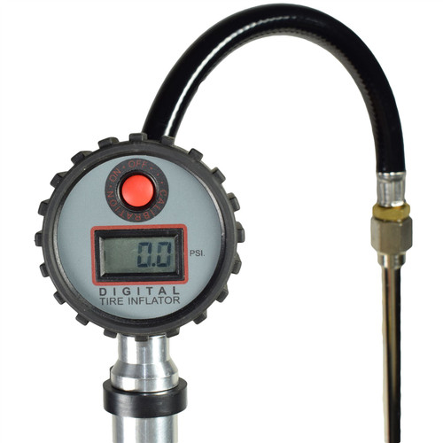 LCD Digital Display Dual Head Tyre Inflator with Push on Connector 0 – 195 PSI