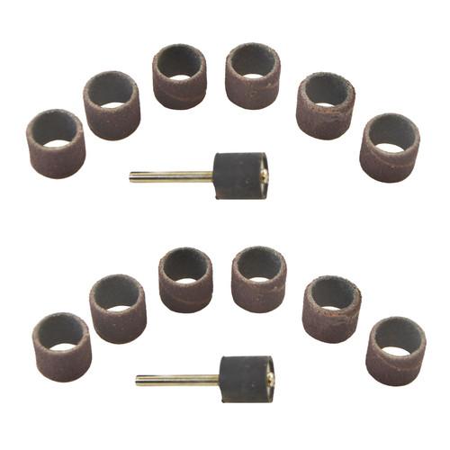 14pc 12.5mm Drum Sanding Grinding Rotary Tool Kit 80 Grit Suitable for Dremel