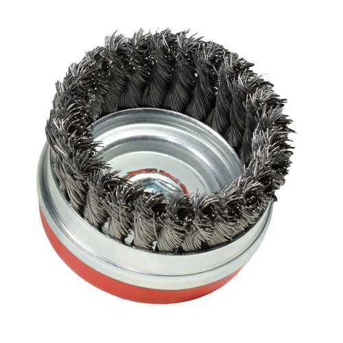 2pc Twisted Knotted Wire Cup Brush Rust Paint Removal Remover M14 x 100mm