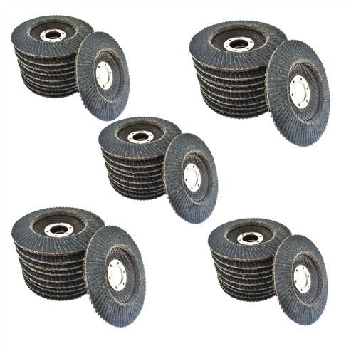 "80 Grit Zirconium Flap Disc Sanding Grinding Rust Removing 4-1/2"" grinder 50pk"