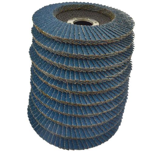 "36 Grit Zirconium Flap Disc Sanding Grinding Rust Removing 4-1/2"" grinder 100pk"