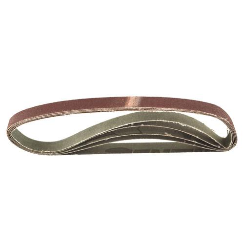 Belt Power Finger File Sander Abrasive Sanding Belts 457mm x 13mm 80 Grit 5 PK