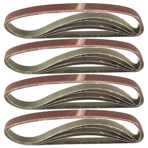 Belt Power Finger File Sander Abrasive Sanding Belts 457mm x 13mm 80 Grit 20 PK
