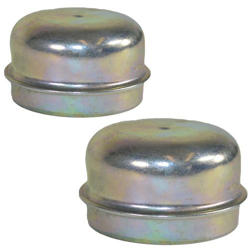 2 Replacement 50mm Metal Dust Cap Wheel Hub Trailer Bearing Grease Cover