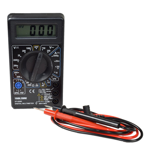 Digital Multimeter Battery Tester AC and Dc Voltage Current Tester LCD Display