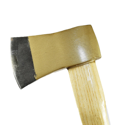 Short Felling Wood Log Axe Wooden Handle Chopper Splitter Cutting 1.5lb Head