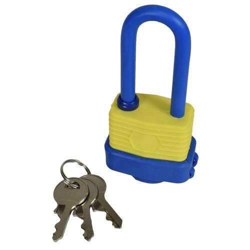 40mm Waterproof Padlock Weather Resistant Shed Gate 3 Keys Shank 53mm