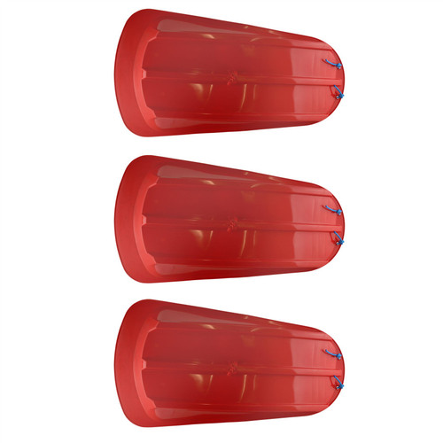 3 Plastic Heavy Duty Outdoor Snow Sledge Toboggan Sleigh Bobsled Bobsleigh