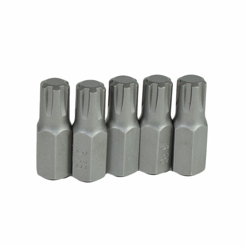 M9 Male Short (30mm) Ribe Bit 5 Pack With 10mm Hex End S2 Steel Bergen