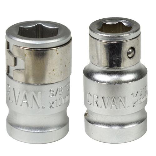 "3/8"" and 1/2"" Drive 10mm Hexagon Screwdriver Bit Holders Adapters Socket"