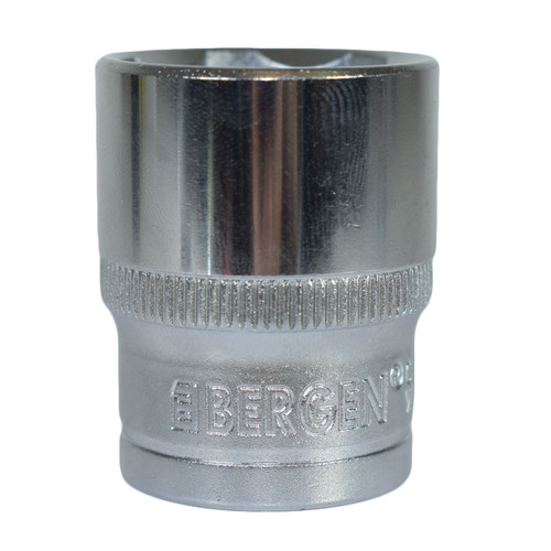 "1/2"" Drive 24mm Metric Super Lock Shallow 6-Sided Single Hex Socket Bergen"
