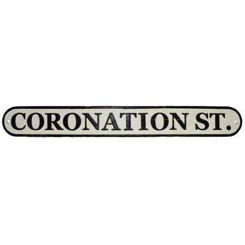 Coronation Street Cast Iron Sign Plaque Wall Fence House Cafe Pub Hotel Bar