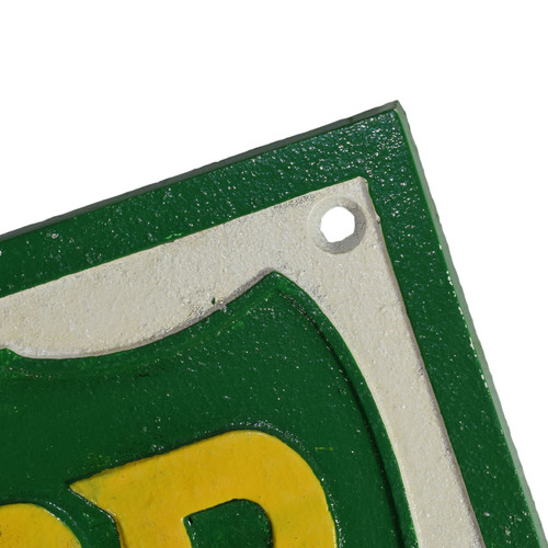 BP Fuel Square Cast Iron Sign Plaque Wall Garage Petrol Workshop Shop Motor