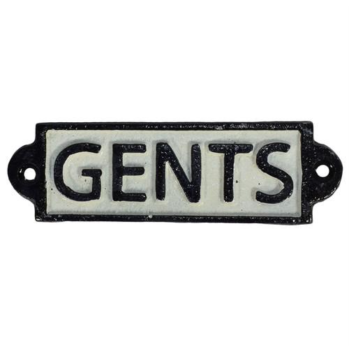 Gents Toilet Cast Iron Sign Plaque Door Wall Fence Post Cafe Shop Pub Hotel Bar