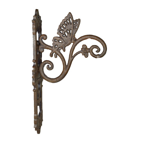 Butterfly Bell Cast Iron Sign Plaque Door Wall Fence Gate House Post Porch