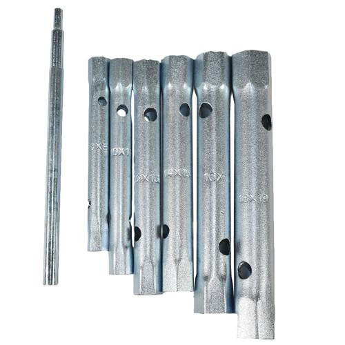 Metric Box Spanner Wrench Tubular Torque Bar Set Plug Sockets 6pc 8 – 19mm