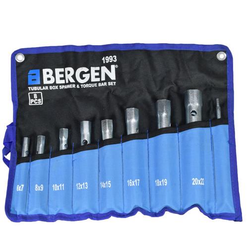 Metric Box Spanner Wrench Tubular Torque Bar Set Plug Sockets 8pc 6 – 22mm