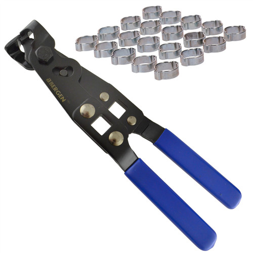 Double Ear Pipe Tube Clips Clamps Hose 15 – 18mm 20pc And CV Joint Boot Pliers