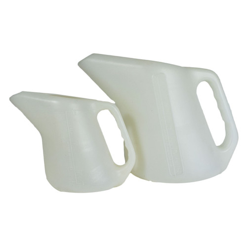 1.5L / 5L Measuring Jug Tapered Pouring Spout MM AF Water Liquid Pot Cup 2pc