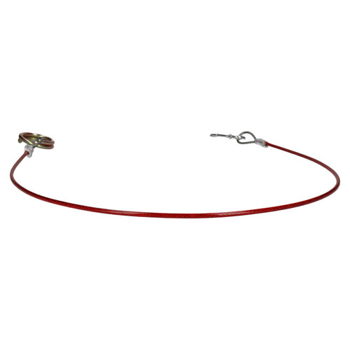 1 Metre Ring Trailer Caravan Brake Away Breakaway Safety Cable Braked Hitch