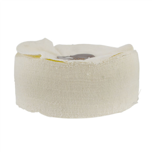 "G Loose Unstitched Floppy Final Polishing Mop 6"" x 1.5"" 3 Row With Compound 250g"