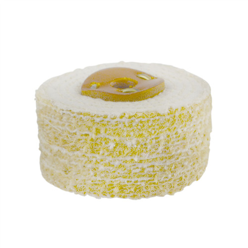 """Coarse Sisal Fast Cut Buffing Polishing Mop 4"""" x 2"""" 4 Row With Compound 250g"""