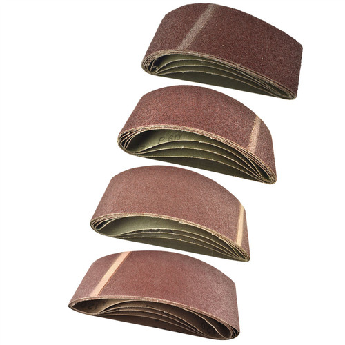 Belt Power File Sander Abrasive Sanding Belts 410mm x 65mm Mixed Grit 20pk