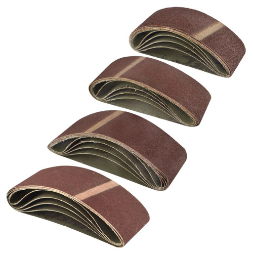 Belt Power File Sander Abrasive Sanding Belts 400mm x 60mm Mixed Grit 20pk