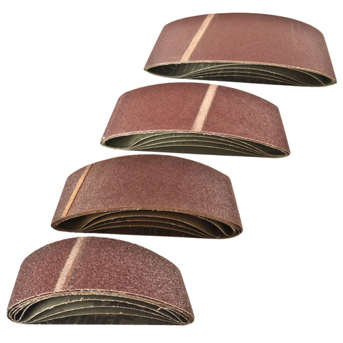 Belt Power File Sander Abrasive Sanding Belts 533mm x 75mm Mixed Grit 20pk